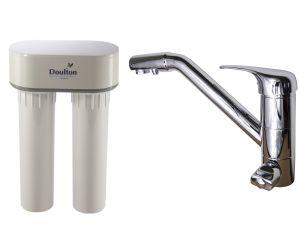 Filtre doulton duo nitrate avec robinet mitigeur de for Mitigeur cuisine 3 voies