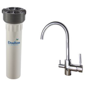 [PACK] Purificateur d'eau Doulton HIP + Mitigeur 3 voies CONTEMPORAIN brillant