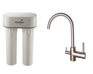 [PACK] Purificateur d'eau Doulton DUO HIP CALCAIRE + Mitigeur 3 voies CONTEMPORAIN satiné