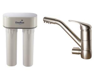 filtre doulton duo calcaire avec robinet mitigeur de cuisine 3 voies classique bross. Black Bedroom Furniture Sets. Home Design Ideas