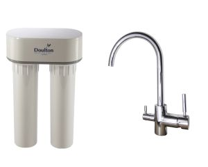 [PACK] Purificateur d'eau Doulton DUO HIP CALCAIRE + Mitigeur 3 voies CONTEMPORAIN brillant